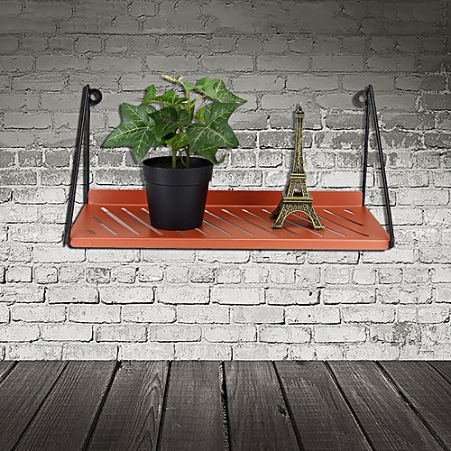 Metal Garden Flower Pot Wall Rack Storage Floating Shelf Unit Display Organizer