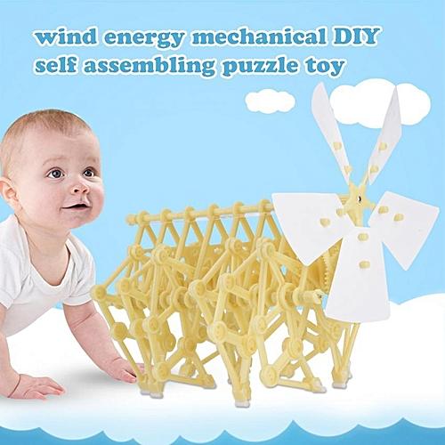 Children Educational Mechanical DIY Assemble Toys Creative Walkable Wind Power Beast