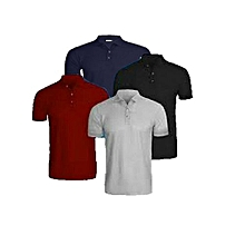2515b55f364 4 In 1 Quality Men  039 s Polo T-Shirts-Grey