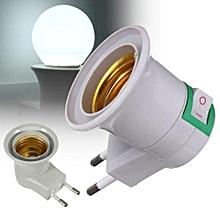 1 Pcs E27 LED Light EU Type Plug Bulb Lamp Socket Base Holder Adapter Converter for sale  Nigeria