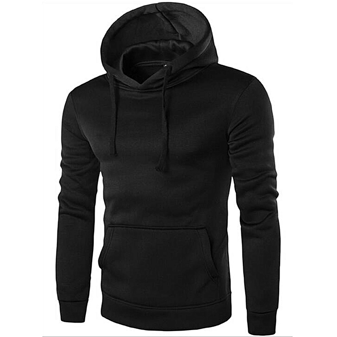 b66ee35dd7b0 Men's Hoodie Sweat Shirt Casual Jacket Coat Top M L XL XXL Sport Hoody-black