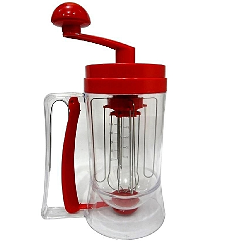 Manual Pancake Mixing Machine - Red