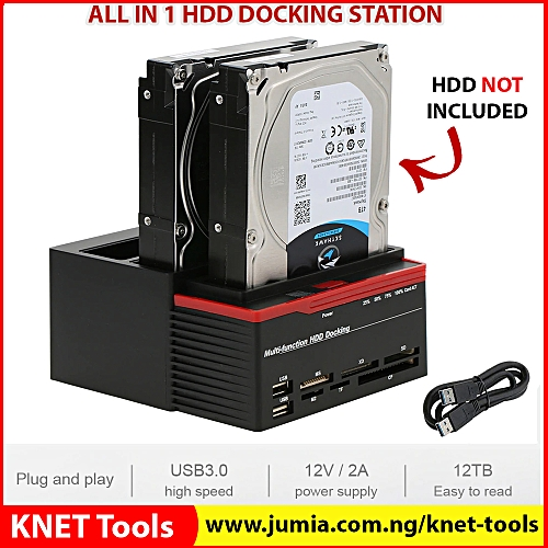 Multi-function External HDD Hard Drive Disk Docking Station