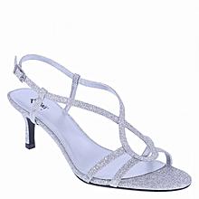 0f26605a189 Women  039 s Morris Open Toe Low Heel Sandal - Silver