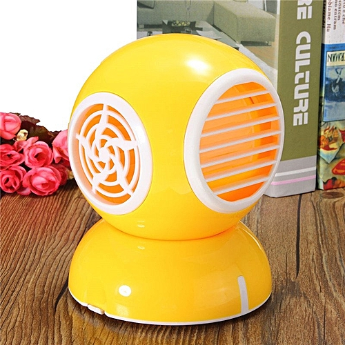 USB Aromatherapy Fan Air Conditioner Mini Perfume Cool Bladeless Fan (Yellow)