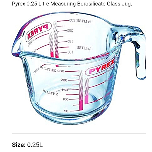 Glass Measuring Jug, Pyrex Glsmj1/2pt, 250ml - Clear