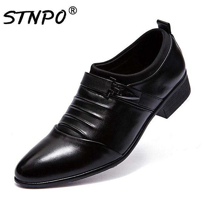 c867b6542c 2019 The New Men Shoes Leather Loafers Fashion Casual Shoes Men Italian  Dress Shoes Plus Size 48 Wedding Formal Shoes Men Classic