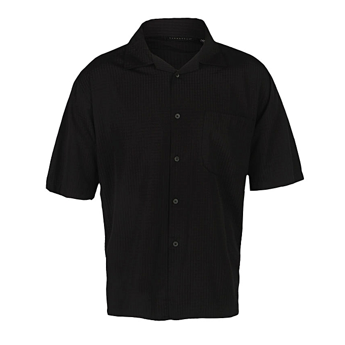 6085c5009 Manhattan Men's Short Sleeve Stripe Shirt | Jumia NG