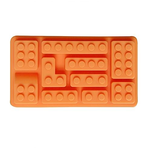 Ice Mold LEGO Building Blocks Silicone Ice Hooks Ice Hooks Moisturizing Chocolate Chocolate Rattice Molds Orange