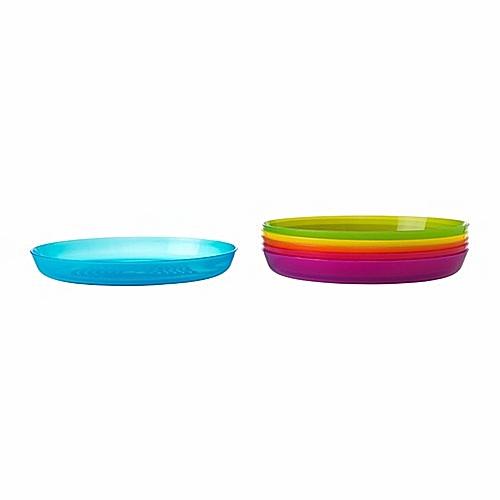 Ikea - Pack Of 6 Kala Assorted Plate - Multicolour