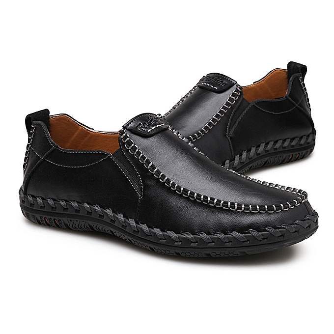 edb1e8b1f6a CSTXHD Men Shoes Casual Italian Slip On Mens Loafers Moccasins High Quality  Soft Leather Handtailor Sewing Male Driving Shoes Black