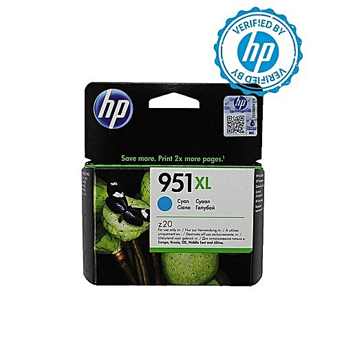 951XL High Yield Cyan Ink Cartridge - CN046AE BGX + FREE HP A4 Paper