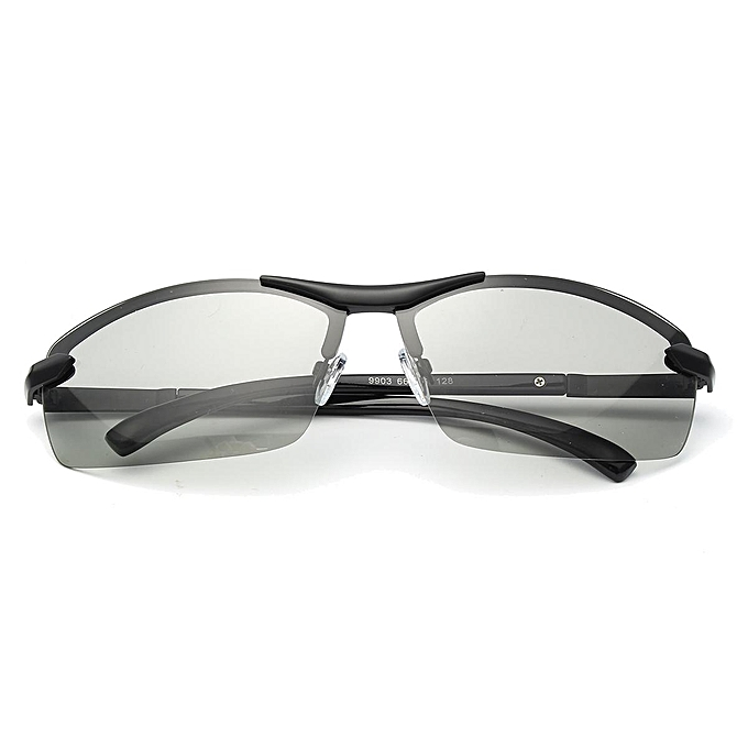 2493ca7a8c87 Polarized Photochromic Sunglass Man Outdoor Driving Transition Lens  Sunglasses Black