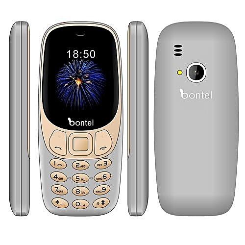 Trio 3310-2 4inch Colourful Screen,1500mAh Battery,3 Sim Card Mobile  Phone-Gray