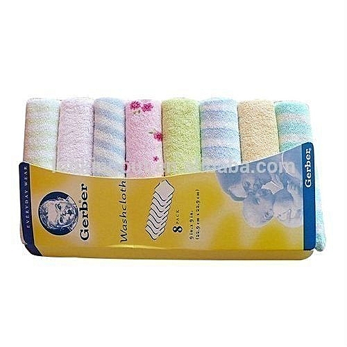 a5892322fc5c Gerber Baby Wash/Mouth Cloth Towel Gift Set Of 8 | Jumia NG