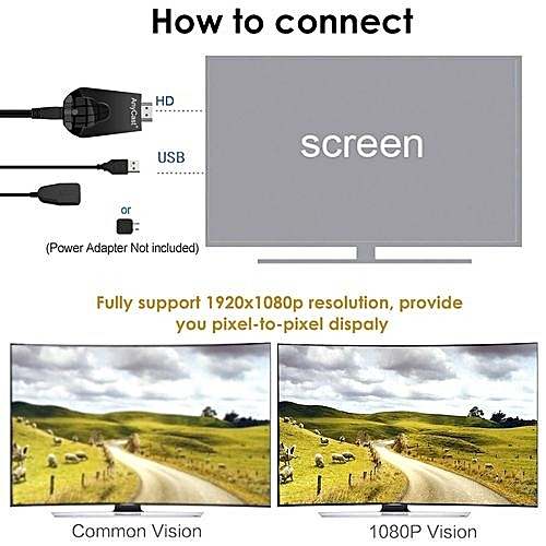 K4-1 Wireless WiFi Display Dongle Receiver 1080P HD TV Stick Miracast Airplay DLNA Mirroring Black For Android IOS Smart Phone Tablet PC