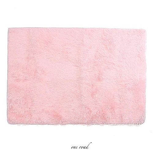 80 X 120 Cm Plush Nonskid Plush Carpet Room Carpet Bedroom Floor Mat-Pink