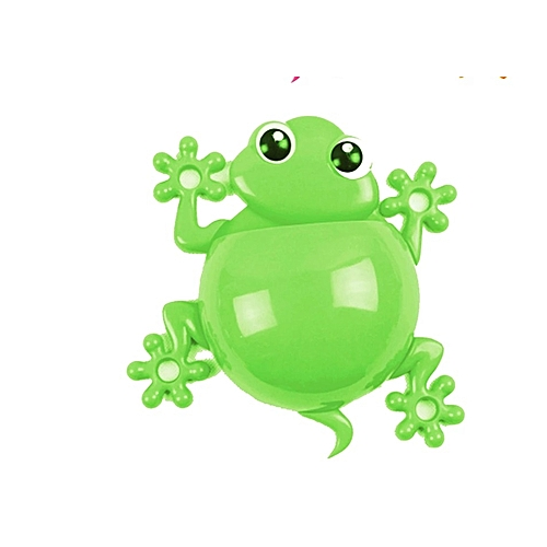 Frog Cartoon Wall Suction Toothbrush Toothpaste Stick Holder