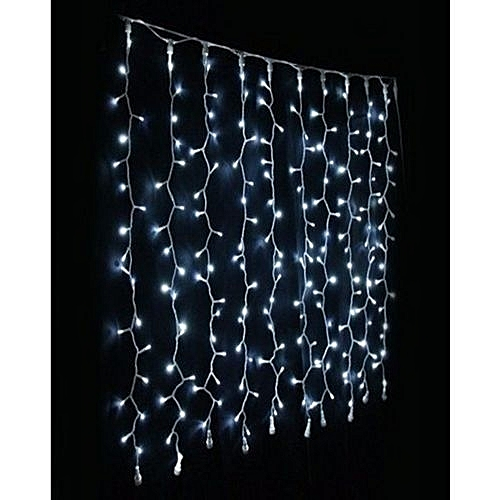 320-Bulbs-Waterfall-Christmas-Lights - White