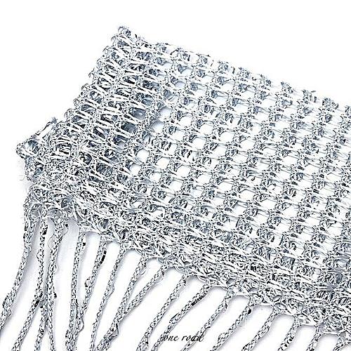 String Door Curtain Beads Window Panel Room Divider Crystal Tassel Fringe Beaded #grey