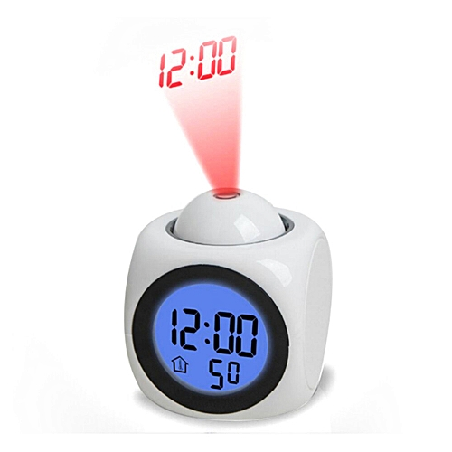 Dtrestocy Digital Alarm Clock Function Voice Call LED Projection Alarm Temperature