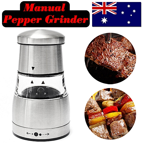 Manual Stainless Steel Pepper Spice Mill Shaker Salt Grinder Muller Kitchen Tool