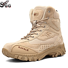 Hot Selling Hiking Shoes Men Outdoor Breathable Army Tactical Military Desert Combat Boots Anti-skid