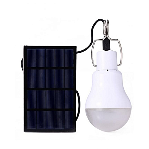 130LM Portable LED Charged Solar Energy Lamp - White