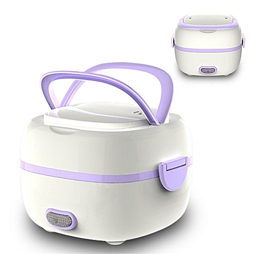 New Multifunctional Electric Lunch Box Mini Rice Cooker Portable Food 110V US Plug