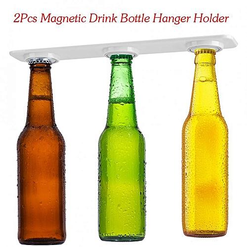 2Pcs Magnetic Drink Bottle Hanger Holder Beer Storage Fridge Refrigerator Jars Organizer