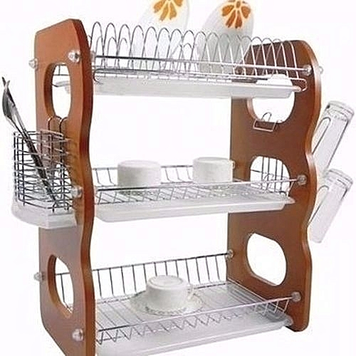 3 Tier Plate Rack And Drainer