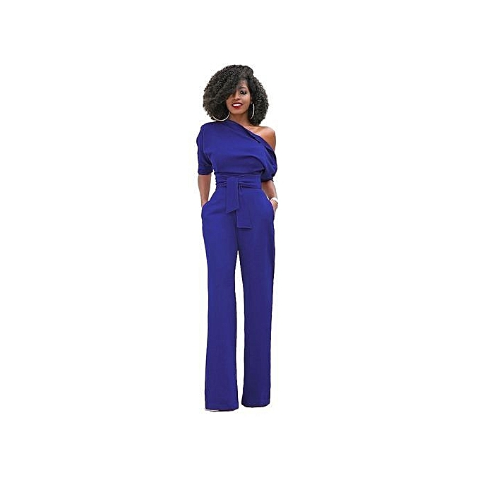 5ad198f9ca12 Women Off The Shoulder Elegant Jumpsuits Women Plus Size Rompers Womens  Jumpsuits Short Sleeve Female Overalls