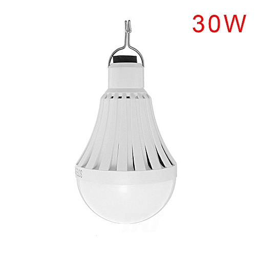 USB Rechargeable Bulb Power Light Portable 12/20/30W 20-50LED Lamp Powered