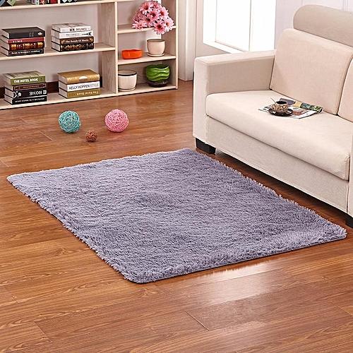 Modern Silk Carpet Living Room Rectangular Coffee Table Sofa Bedside Carpet Bedding#Grey