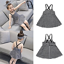 92c154cc3b0 Toddler Girls Princess Plaid Strap Dress Kids Baby Sleeveless Dresses  Outfits Musiccool