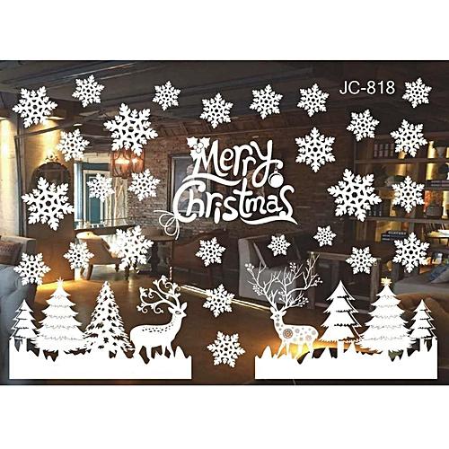 DIY Home Window Glass Christmas Xmas Sticker Wall Decals Mirror Shop Hotel Decor