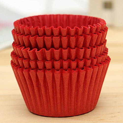 500pcs Xmas Paper Cake Cupcake Liner Case Wrapper Muffin Baking Cup Party Red