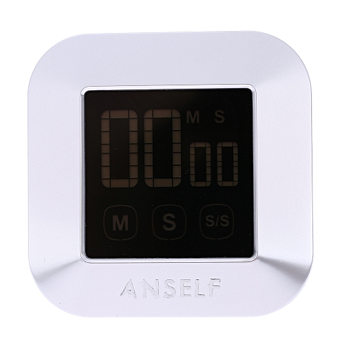 Anself LCD Digital Touch Screen Cooking Kitchen Timer Countdown Count Up Alarm Clock