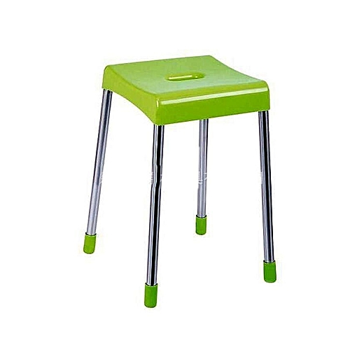 Stylish Foldable Bedside Stool - Green