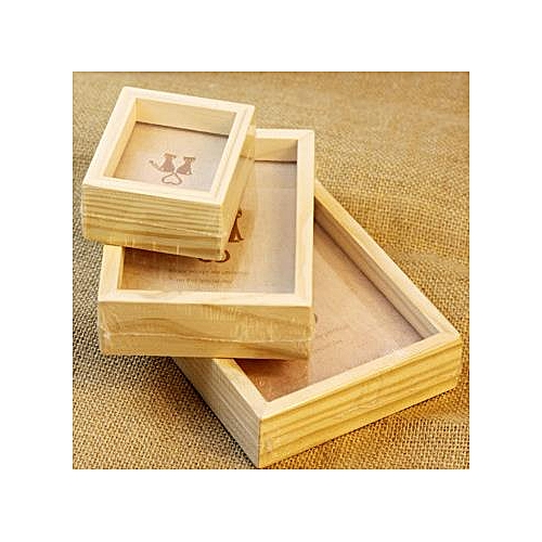 Multi-Size Family Vintage Pictures Frame Home Decor Wooden Wedding Room Desk Photo Frames 5 Inch