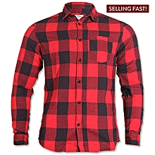 2bdf91521c39fb Check Shirt With Contrast Pocket - Red Black