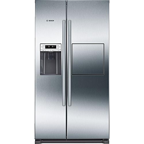 Side By Side - American-style Fridge Freezer Stainless Steel EasyClean Door And Grey Side Panels