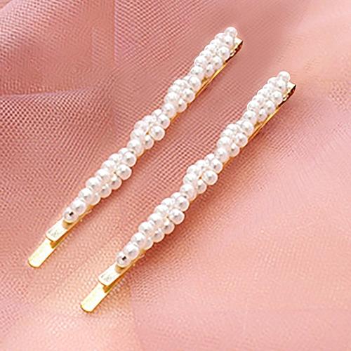 1 Pair Fashion INS Women Cute Girl Pearl Hair Clip Hairpin Hair Accessories Gift