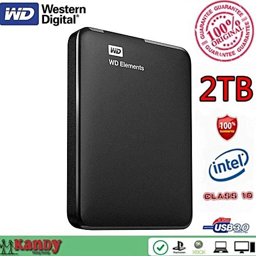 Generic WD Elements Portable External Hd Hard Drive Disk 2TB-Black