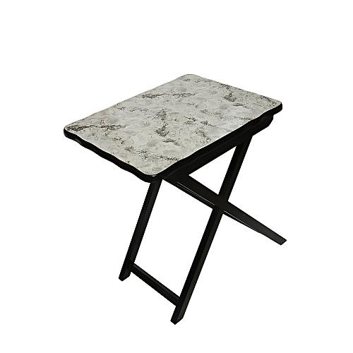 Foldable Table White Stone Head
