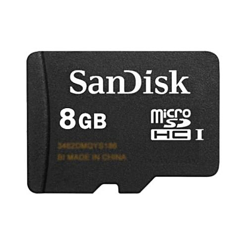 8GB MicroSDHC Memory Card With SD Adapter