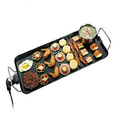 Electric Grill Plate With Griddle Design