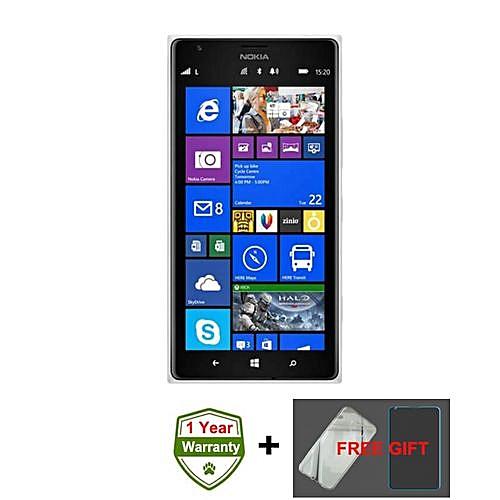 Lumia 1520 6 Inch 2GB + 32GB 20MP + 1.2MP Single Sim Windows 4G Smartphone (Gift) – Black