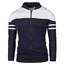 Men New Fashion Bomber Jackets Casual Sport Hoodies- Navy for sale  Nigeria