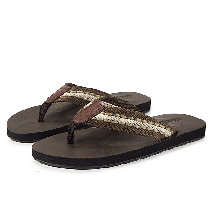 41f75ac5da7 Beach Slippers Mens Summer Open Toe Anti-Slip Flip Flops Flat Sandals  Indoor Outdoor Shoes